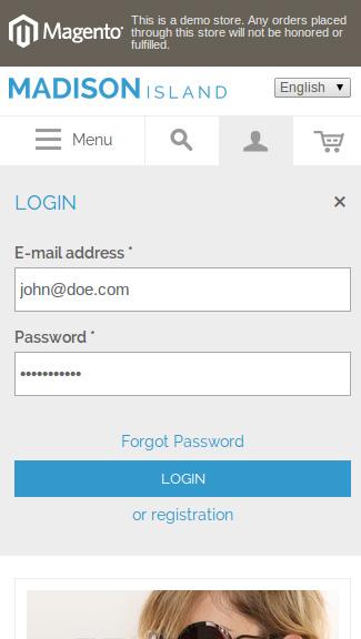Magento Ajax belépés és regisztráció